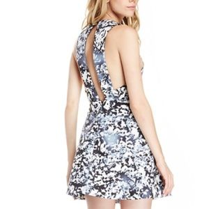 Cameo Mini Dress A-line Cut Out Back Warm Thoughts